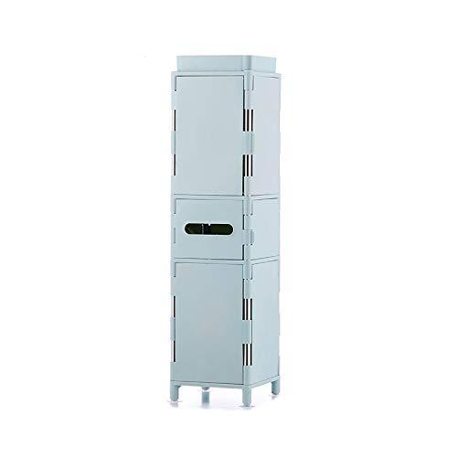 Armario Lateral Para Inodoro Gabinetes de almacenamiento de inodoros entre armarios Baño de piso Plaza de cajones Baño para el hogar Gabinetes ultrarríos ( Color : Azul , Size : 20x20x79cm )