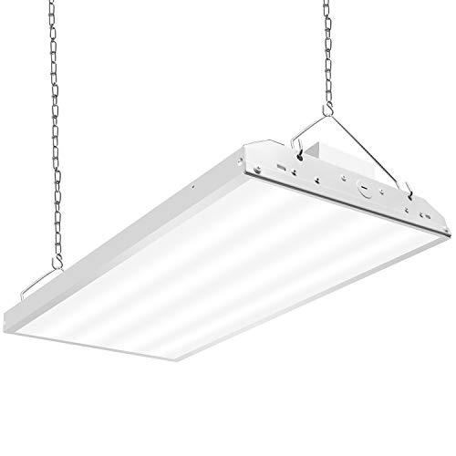 CINOTON 2FT Linear LED High Bay Light, LED Shop Light Fixture 110W 14300Lumens 1-10V dimmable 5000K [4 Lamp Fluorescent Equivalent] Motion Sensor Optional, Indoor Commercial Warehouse Area Light