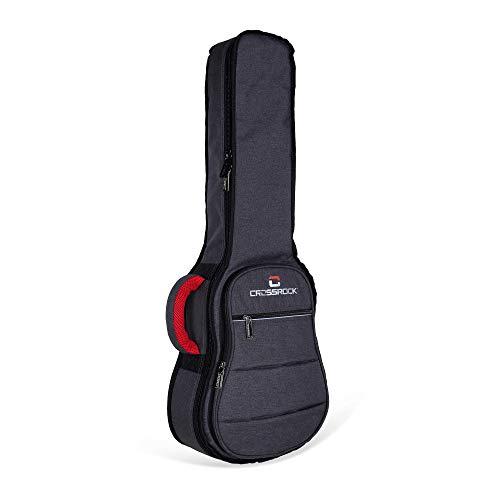 Crossrock - Custodia ibrida in ABS per ukulele soprano, mod. CRA400SUYL Gig Bag grigio