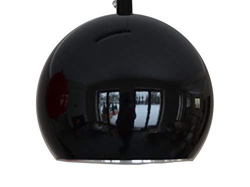 Hängelampe Hängeleuchte Pendellampe Beleuchtung Lampe Leuchte für Innen Indoor Wohnzimmer Kugel Rund Dimmbar Schlafzimmer Metall Tageslicht LED YY-1 (Schwarz)