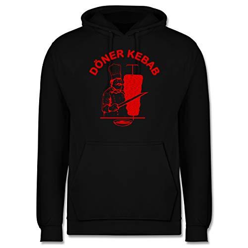 Shirtracer Statement - Original Döner Kebab Logo - XL - Schwarz - doener kebap - JH001 - Herren Hoodie und Kapuzenpullover für Männer