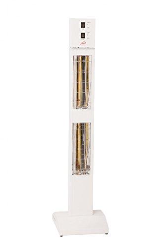 Burda UK Stand Infrarot Heizstrahler Smart Tower IP24, [Gehäusefarbe]:Weiß