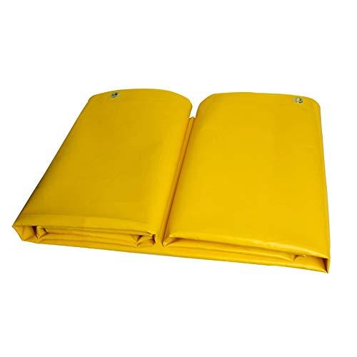 ZZHF Wasserdichte Plane Gelbes PVC-Messer, Das Tuch Kratzt, Verdicken Regenfeste Schwere Planen-Wasserdichte Sonnenschutz-Segeltuch-Schiebe-Spitzenstoff für Im Freienkampieren Zeltplanen