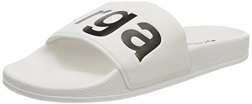 Superga Unisex-Erwachsene Slides PVC Slipper, Weiß (White-Black), 37 EU