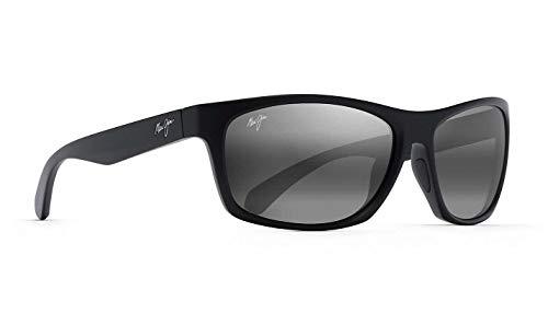 Maui Jim Tumbleland - Gafas de sol polarizadas (grado 3, polarizadas, 2 ramas flexibles), color negro mate
