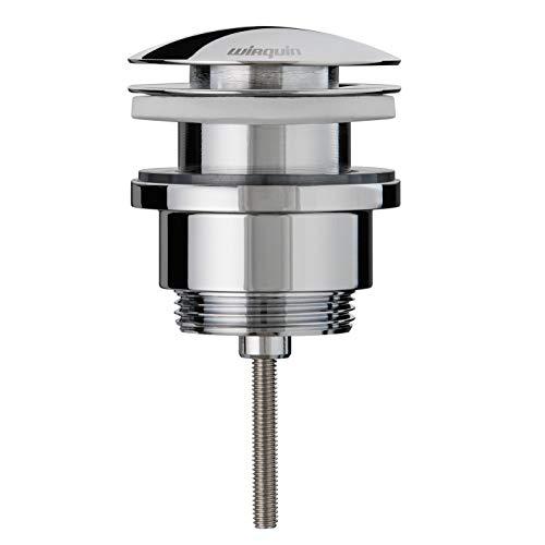 Wirquin 30723419 - Desagüe de lavabo (latón, sistema Quick Clac, con tornillo central)