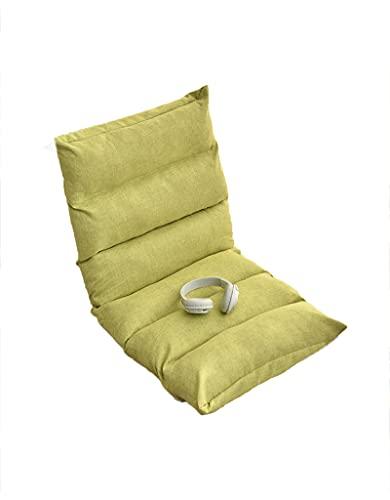 BBDDXX Sedia A Pavimento Regolabile con Supporto per Schienale, Meditazione Interna Leggendo Lazy Tatami Divano Pieghevole Tatami, Stylish Crative Backrest Piccolo Divano,Tea Green
