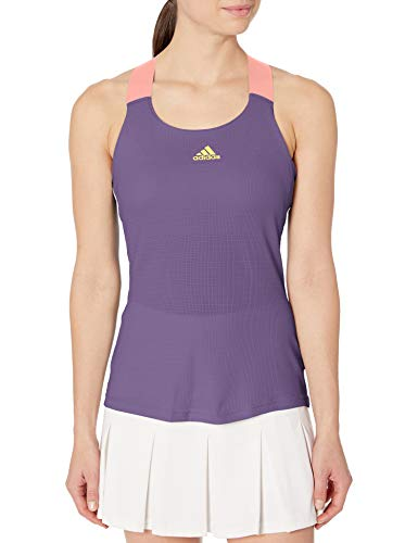 adidas Gameset Heat.rdy Y-Tank Top para mujer - GLL30, gameset heat.rdy y-tank blusa, L, púrpura/...