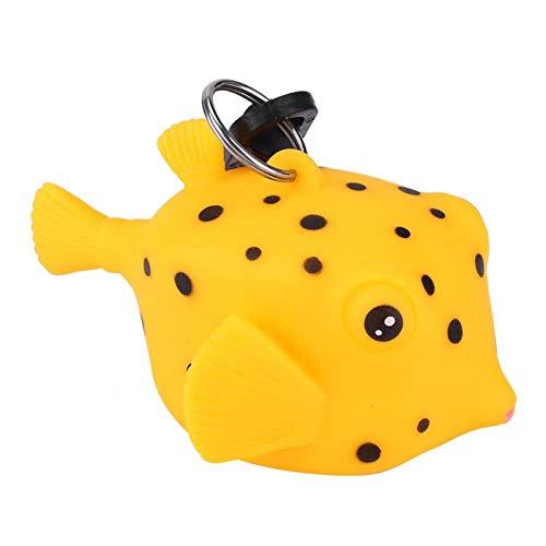 DAUERHAFT La Forma Linda de la Historieta se Puede Colgar en el regulador Protector de la Boquilla de Buceo BCD Fácil de operar Gran Accesorio de Buceo(Small Yellow Croaker)