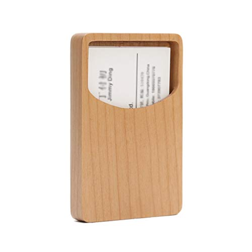 Tarjetero Para Tarjeta de Crédito Titular de la tarjeta de visita creativa del titular de la tarjeta de visita Tarjeta de visita Oficina Empresa Business Case regalo, arce / nogal Cajas para tarjetas