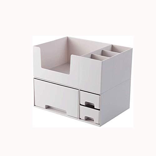 GFDFD Caja de almacenamiento, joyería Toallita de algodón de almacenamiento Caja de almacenamiento de escritorio Caja de los productos de plástico Organizador de escritorio vertical de acabado multifu