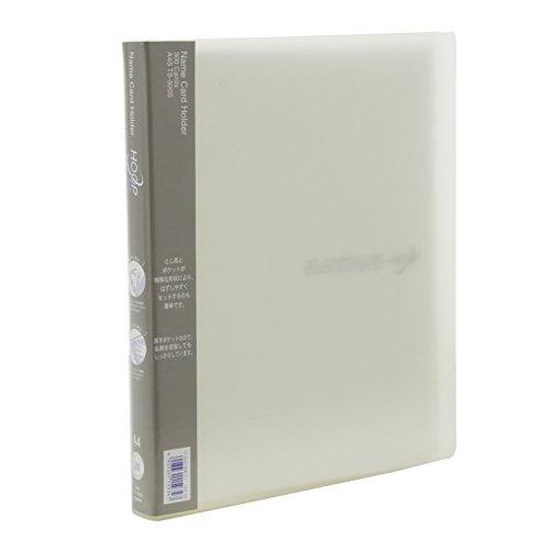 ライオン事務器 名刺ファイル フープ A4S TS-300S-T 透明