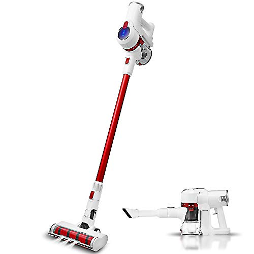 Cordless Vacuum Cleaner,400W 28Kpa,Strong Suction Stick Handheld Vacuum Cleaner,Wireless Vacuum Cleaners,Multiple Mode Conversion,Cordless Stick Vacuum for Deep Clean Pet Hair Carpet Hard Floor,Red