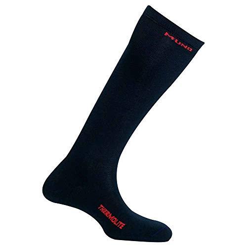 Mund Socks Chaussette de ski thermique avec fibre Thermolite® sans coutures (Navy, EU 34-37)