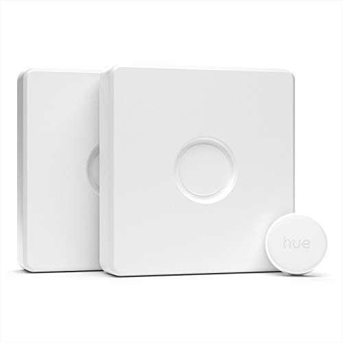 IYOKI Hue Switch Cover for Single Philips Hue Smart Button, Philips Hue Switch Cover Plate UK/EU, Philips Hue Button Switch Cover (2-Pack)