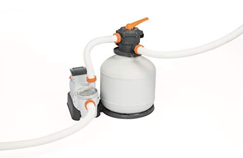Bestway 58486 - Bomba de filtro de arena Flowclear de 9800 l/h para piscinas fuera tierra