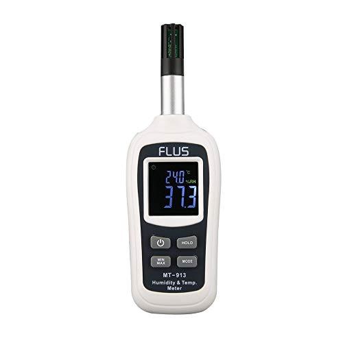 Dhmm123 Digital MT-913 Mini-Temperatur-Feuchtigkeits-Messinstrument Digital-LCD Innen Außen-Temperatur-Feuchtigkeits-Messinstrument-Thermometer-Hygrometer-Lehre Spezifisch