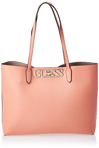 Guess Damen Uptown Chic Barcelona Tote Bag, Orange (Peach), 13x29x42 Centimeters