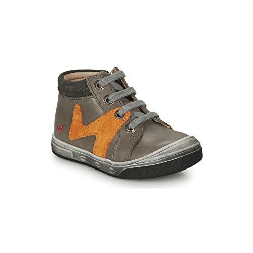 GBB OLINOU Sneakers jongens Grijs/Oker Hoge sneakers