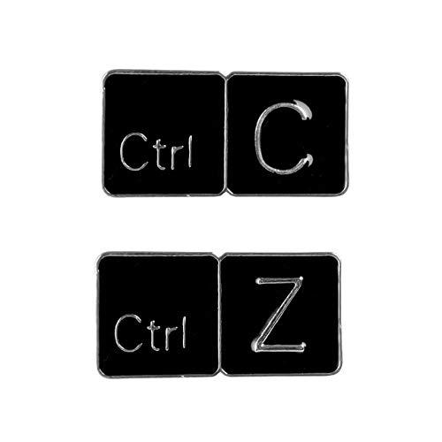 chenlong Emaille Pin Keyboard Shortcut Broschen für Tasche Kleidung Anstecknadel benutzerdefinierte Abzeichen Büroangestellte Schmuck Geschenk Freunde Set