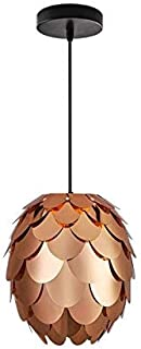 Modern Chandeliers Ceiling Lights Pendant Concise Style Artichoke Shaped Copper-Plating pp DIY Lamp Shade with Cable and Lamp Base Not Included Light Bulb 3C ce Fcc Rohs for Living Room Bedroom, Kat