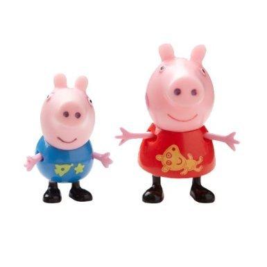 Pack de 2 figuras Peppa Pig Theme Park: Peppa & George [Toy]: Amazon.es: Juguetes y juegos
