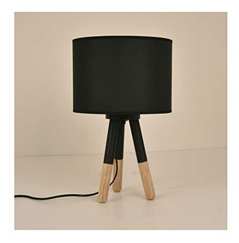 GPZZGP-Iluminación de cabecera Lámpara de noche de madera maciza dormitorio de la personalidad Lámpara de cabecera de la sala de estar moderna Mesa de estudio de la lámpara Iluminación nocturna profes