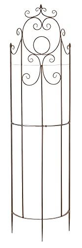 CLP Eisen-Rankgitter Lavendel im Landhausstil I Rankzaun mit stilvollen Verzierungen I erhältlich, Farbe:antik braun