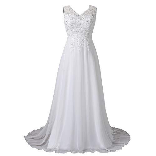 WeddingDazzle Wedding Dress Applique with Beading Long Bridal Dress for Women's2 Ivory