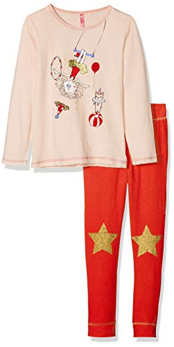 Lina Pink BF.CIR.PL Conjuntos de Pijama, Rouge (Peche/Rouge Peche/Rouge), 4 años para Niñas