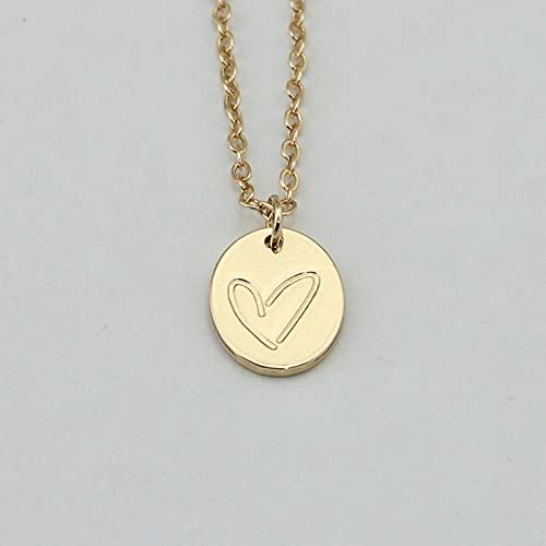 Accesorios de joyería Heartstuck grabado collar colgante para mujer regalo de cumpleaños