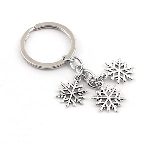 TIANDI 1Pc Encantador Llavero De Copo De Nieve De Navidad Llavero De Copo De Nieve Anillo Monedero Colgante para Regalo De Los Amantes