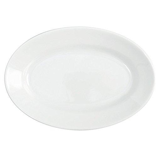 Saturnia Tablett oval cm.31Tivoli weiß