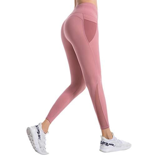 WANGT Leggings De Yoga para Mujeres,Mallas Pantalones Deportivos,Medias De Gimnasia,con Bolsillos,Alta Cintura Elásticos Yoga Fitness para Running Yoga Fitness Gym,S