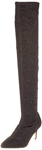 Buffalo Starlight Elastic Fabric, Bottes Au-Dessus du Genou Femme, Noir (Black 01 00), 38 EU