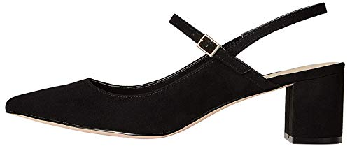 FIND Block Heel Mary-Jane Scarpe con Tacco, Nero (Black), 36 EU