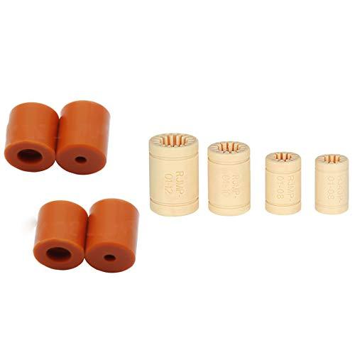 Nrpfell 4Pcs 16mm Silicone Hot Bed Leveling Column Platform Leveler & 4Pcs RJMP-01 RJ4JP Plastic Linear Bearings