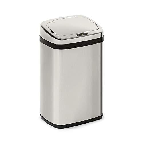 Klarstein Cleansmann 30 - Poubelles, capacité 30 litres, sans contact : ouverture et fermeture automatique, porte-sac poubelle,...