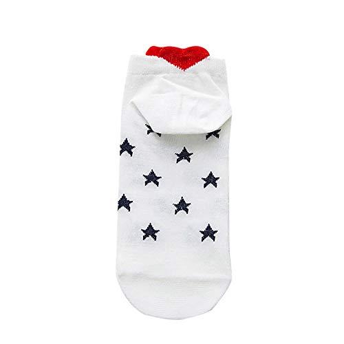 MOIKA Sneaker Socken Damen, Frauen Herren Socken Beil?ufige Arbeit Herz-f?rmige Baumwollliebes-Art- & Weisesocke Bequem Socks
