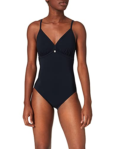 Marc O'Polo Body & Beach Damen Beachsuit Einteiler, Schwarz (Blauschwarz 001), 38C