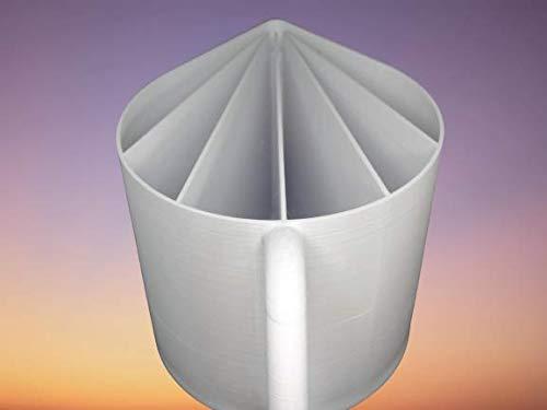 Tasse cup de 60cl 20oz - 6 canaux pour peinture acrylique liquide fluide, technique acrylique pouring ou coulée - MADE IN FRANCE diy