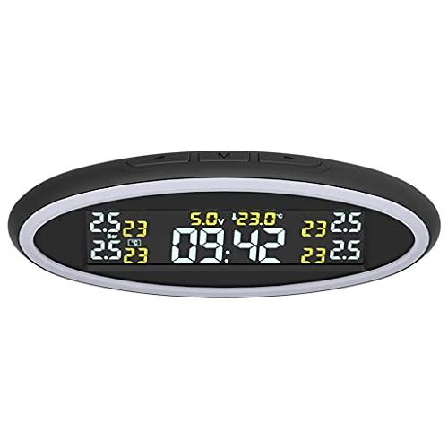 ZZABC LTTYJCHJ Monitor de presión de neumáticos Neumático de Repuesto Sensor Externo Interno TPMS con Luces ambientales de 2 Colores Sistema de monitoreo de presión de neumáticos de automóvil