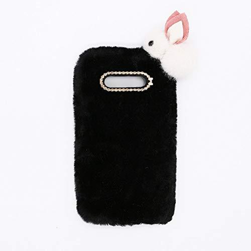 YHY Lindo Conejito para Samsung Galaxy Note 8 Elegante Funda Peluda de Silicona Teléfono Móvil de TPU Negro