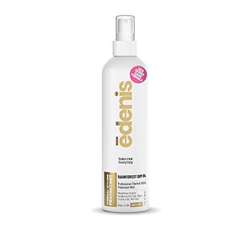 EDENIS Rainforest Dry Oil Hair Mist for Heat Protection & Shine | Detangler | Vegan, Cruelty-Free, Lightweight Non-Greasy Formula with Amazon Oil Protect & Detangle Hair Spray - 4 fl oz