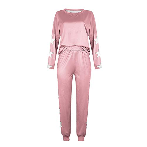 Conjunto De Pijamas Caseros De Moda De Color Puro Europeo Y Americano De Otoño para Mujeres, Pantalones Holgados Casuales, Conjunto De 2 Piezas para Fiesta De Viaje De Vacaciones