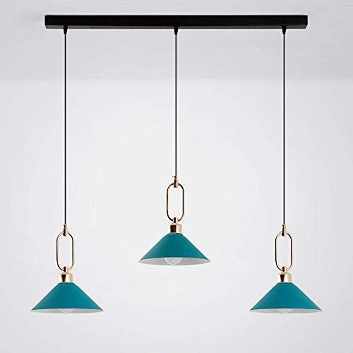 GaoF Nordic Industrial Winds Lámpara Colgante 3 Luces Lámparas de Cocina, Lámparas de araña de Granja de Pantalla de Metal Vintage Luces Lámpara de Comedor rústica