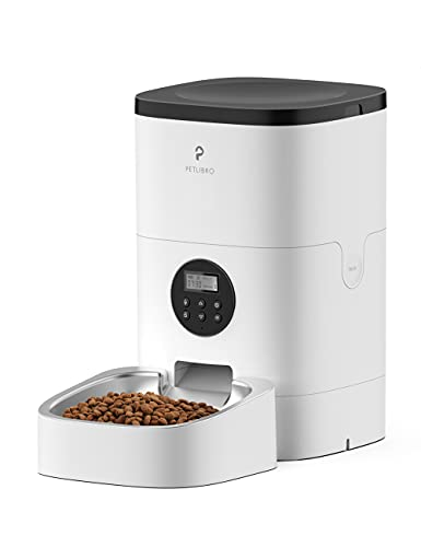 PETLIBRO Automatischer Futterautomat für Katze und Hund, 4L Automatischer Futterspender mit Edelstahlschüssel , 1-4 Mahlzeiten pro Tag & 10s Voice Recorder für kleine/mittlere Haustiere
