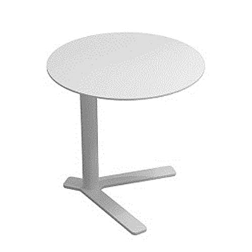 Yamyannie Side Table Round Bar Table Top For Cocktail Bar Pub Coffee Tea Dining Bistro Outdoor Table for Bedroom (Color : White, Size : 45x45cm)