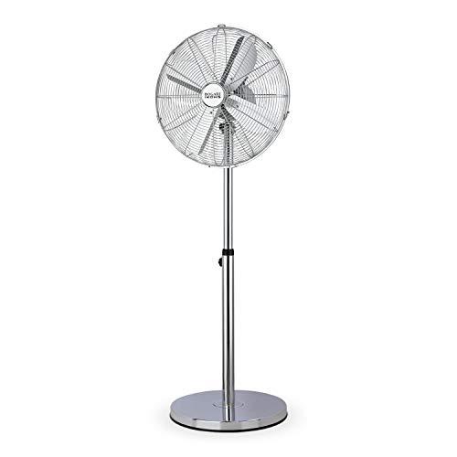 IKOHS Bogart - Ventilador de Pie Oscilante, 3 Velocidades, 50W, Motor de Cobre, Silencioso, Base Muy Estable, Aluminio, Base Amplia, Altura Regulable máx. 1,20 m, Diseño Exclusivo