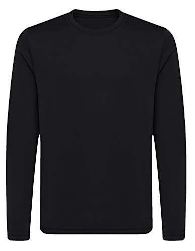 OPNA Youth Athletic Performance Long Sleeve Shirts for Boy's or Girl's – Moisture Wicking, Small, Black